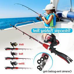 1.4m Telescopic Fishing Rod Pole & Spinning Reel Combo Kit S