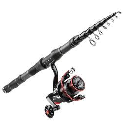1.8M-3.0M Fishing Rod and Reel Combos Telescopic Fishing Pol