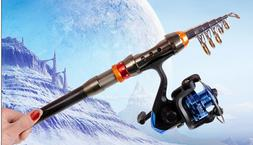 1.8M Portable Carbon Fiber Ultralight Telescopic Fishing Rod
