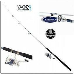 Fishing Rod and Reel Combo Okuma Tundra 10/' Spinning Saltwater Heavy Duty New