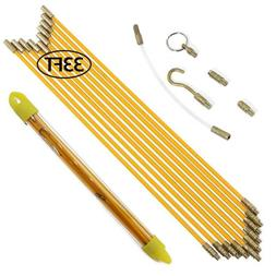 10PCS Fiberglass Wire Cable Running Rods Kit 33feet Electric