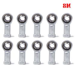 10Pcs M8 Female Bearing Steel Fish Eye Rod Left Thread End J