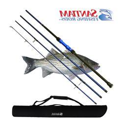 """SANTIAM FISHING RODS 4 PC 12'0"""" 17-40LB SURF SPINNING ROD AL"""