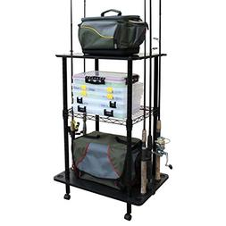 Rush Creek Creations 12 Fishing Rod Storage Tackle Cart - Du