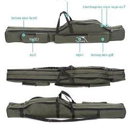 120/130/150CM Folding Fishing Rod Bag Canvas Pole Storage Ca