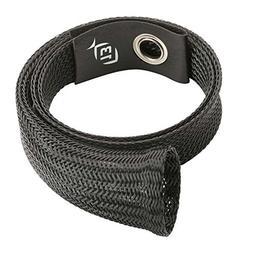 13 Fishing 13SLEEVE-38 Ice Rod Sleeve - Black with Leather T