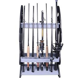 16 Fishing Rod Holder Storage Rod Rack Fishing Pole Stand Ga