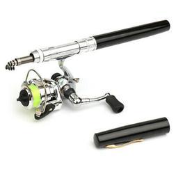 1M / 1.4M Pocket Collapsible Fishing Rod Reel Combo Mini Pen