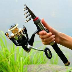 1Set Telescopic Fishing Rod and Reel Combos Spinning Fishing