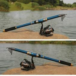 2.1M Fishing Rod Ultralight Carbon Fiber Telescopic Portable