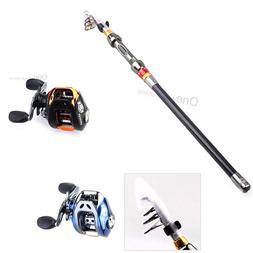 2.1M Portable Fishing Rod with Black / Blue 10+1 Ball Bearin