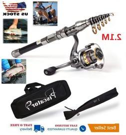 2.1m Piscator Telescopic Fishing Rod and Reel Combo Full Kit