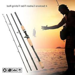 2.4M/2.1M Carbon Fiber Baitcasting Spinning Fishing Rod Medi