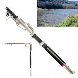 2.4m 2.7m Automatic Fishing Rod Stainless Steel Fiber Telesc