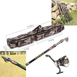 2.7M Fishing Rod and Spinning Reel Combo Telescopic Fishing