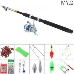 2 7m fishing rod reel line combo