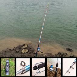 2.4M SALTWATER FISHING ROD AND REEL SPINNING COMBO FULL KIT