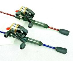 2 Combo's Zebco 2010 Rod And Reel Combo's 5' 2 piece Rods, 1