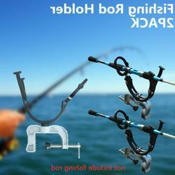 2 Pack Heavy Duty Fishing Rod Pole Rest Universal Boat Dock