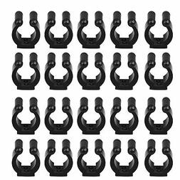 20-Pack Wall Mounted Fishing Rod Storage Clips Clamps Holder