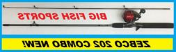 "Zebco C 202 Spincast Combo 5'6"" Med 2Pc Pre-MNT"