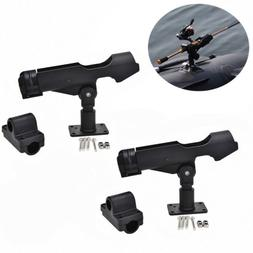 2PC Adjustable Side Rail Mount For Kayak Boat Fishing Pole R
