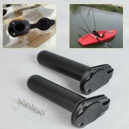 2pcs 30 Degree Flush Mount Fishing Rod Holder with Cap Cover