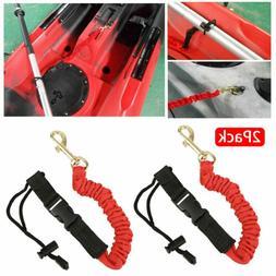 2pcs Elastic Paddle Fishing Leash Safety Rod Coiled Lanyard