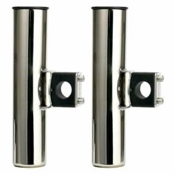 2X Clamp on Rod Boat Fishing Stainless Steel Rod Holder 25mm