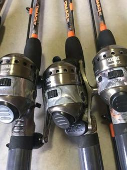 3 New Zebco 33 Micro Camo 5' Fishing Rod Reel Ultra Light Sp