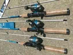 3 New KIDS Fishing Rod Reel Combos Fin Commander Zebco 33 Mi