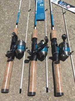 3 New Fin Commander Zebco 33 Micro 5' Fishing Rod Reel Light