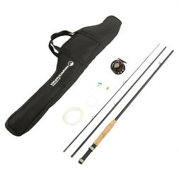 Wakeman 3 Piece 8 Ft Fly Fishing Rod and Reel Carry Case Fib