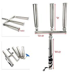 Sliler Highly Polished Stainless Steel Outrigger Stylish Rod Holder with Strap