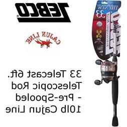 Zebco 33 telecast 6ft Telescopic Rod Fishing Rod and Reel 33