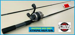 Zebco 33J/ZAS602M Spincast combo 2 piece Z-Glass rod