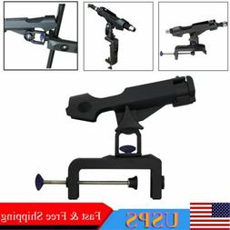 360° Adjustable Fishing Boat Rod Stand Holder Pole Clamp-on