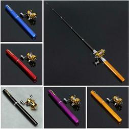 38 Inch Mini Portable Pocket Aluminum Alloy Fishing Rod Pen