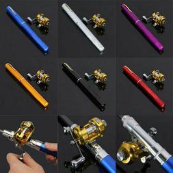 38inch Mini Portable Pocket Aluminum Alloy Fishing Rod Pen G