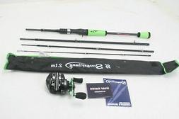 Sougayilang 4 Piece Ultra Light Baitcaster Fishing Rod Reel