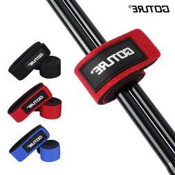 4pcs Fishing Rod Ties Tackle Strap Belt Elastic Wrap Band Ho