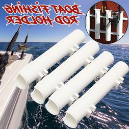 "4Pcs/ Set White Plastic 12"" Boat Fishing Rod Holders Boat Ma"