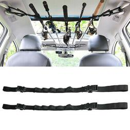 5 Roads Fit Car Fishing Rod Carrier Holder Belt Strap With T