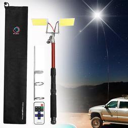 5M 3000LM Telescopic Fishing Rod LED Lantern Outdoor Camping