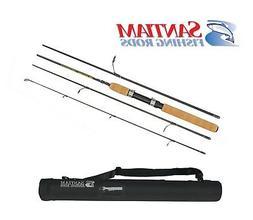 "Santiam Fishing Rods Travel Rod 4 Piece 6'6"" 4-8lb Light Gra"