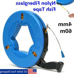 60m Fish Tape Fiberglass Wire Cable Electric Running Rod Duc