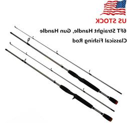 6ft Carbon Fiber Fishing Rod Outdoor Spinning Lure Rod Sea S