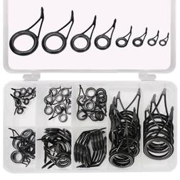 75Pcs Fishing Rod Guide Line Kit Straight Single Foot Rings