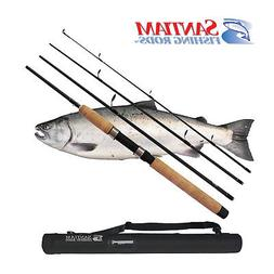 "SANTIAM FISHING RODS 4 PC 8'6"" 10-20 LB SPINNING  ALASKAN TR"