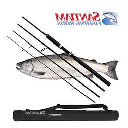 Santiam Fishing Rods Travel Rod 4 Piece 8'6'' 10-20lb MF Gra